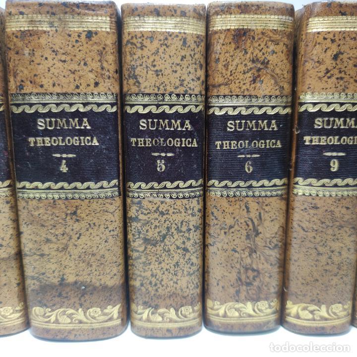 Libros antiguos: Summa totius theologiae. Sancti Thomae Aquinatis. 9 Tomos, nº 2,3,4,5,6,9,10,11,12. 1827. Madrid. - Foto 3 - 265828879