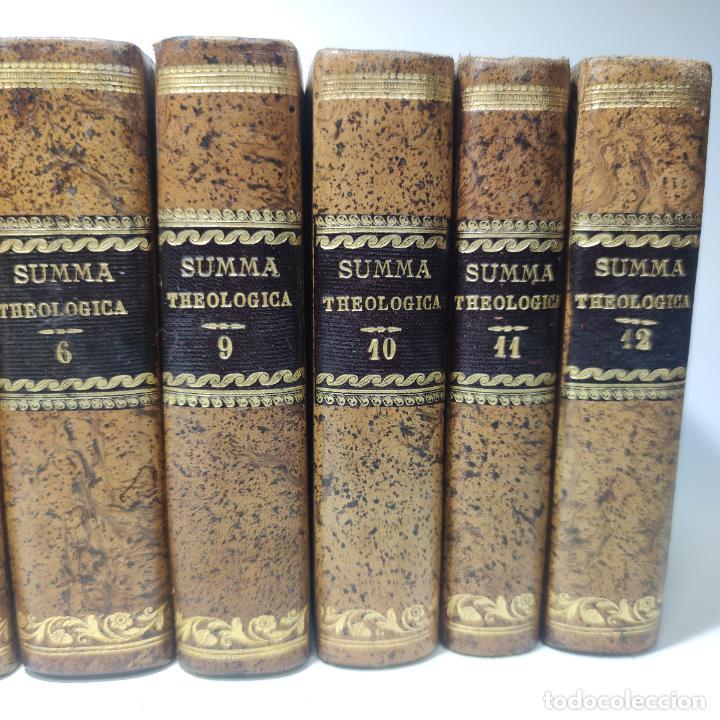 Libros antiguos: Summa totius theologiae. Sancti Thomae Aquinatis. 9 Tomos, nº 2,3,4,5,6,9,10,11,12. 1827. Madrid. - Foto 4 - 265828879