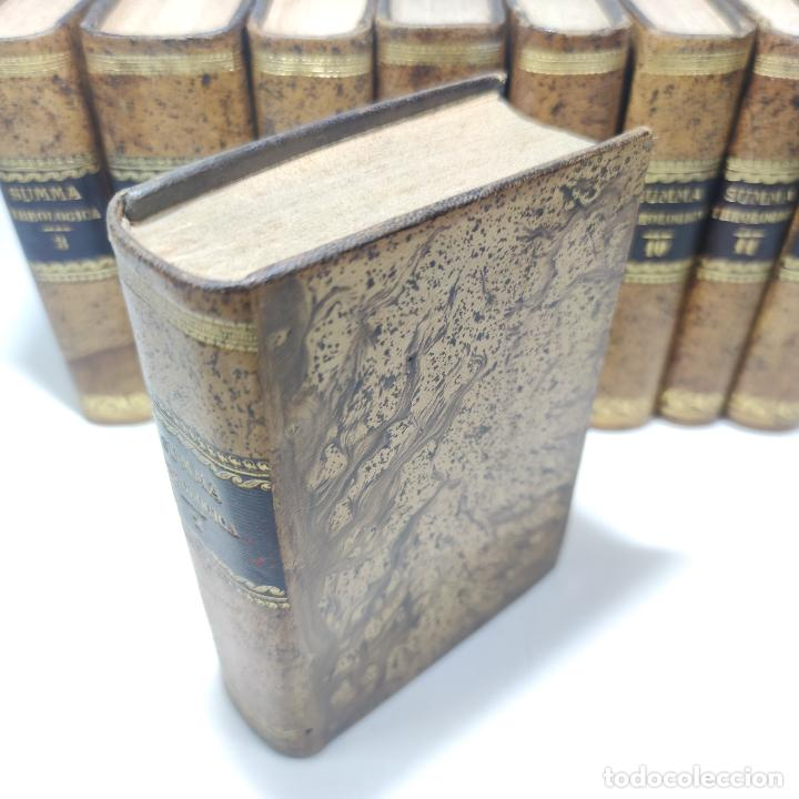 Libros antiguos: Summa totius theologiae. Sancti Thomae Aquinatis. 9 Tomos, nº 2,3,4,5,6,9,10,11,12. 1827. Madrid. - Foto 5 - 265828879