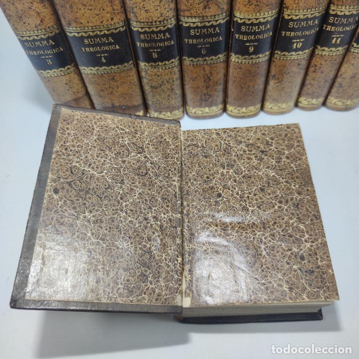 Libros antiguos: Summa totius theologiae. Sancti Thomae Aquinatis. 9 Tomos, nº 2,3,4,5,6,9,10,11,12. 1827. Madrid. - Foto 6 - 265828879