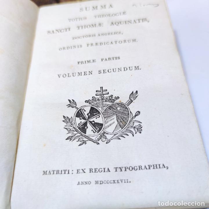 Libros antiguos: Summa totius theologiae. Sancti Thomae Aquinatis. 9 Tomos, nº 2,3,4,5,6,9,10,11,12. 1827. Madrid. - Foto 7 - 265828879