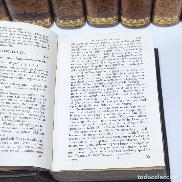 Libros antiguos: Summa totius theologiae. Sancti Thomae Aquinatis. 9 Tomos, nº 2,3,4,5,6,9,10,11,12. 1827. Madrid. - Foto 9 - 265828879
