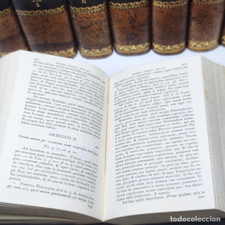 Libros antiguos: Summa totius theologiae. Sancti Thomae Aquinatis. 9 Tomos, nº 2,3,4,5,6,9,10,11,12. 1827. Madrid. - Foto 10 - 265828879
