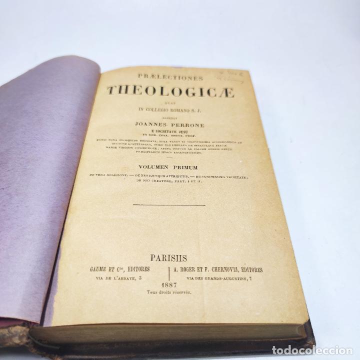 Libros antiguos: Praelectiones theologicae quas in collegio romano S.J. Joannes Perrone. 4 tomos. París. 1887. - Foto 4 - 265830979