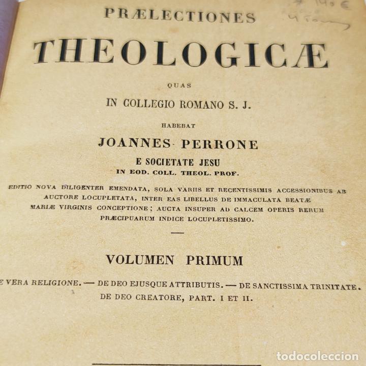 Libros antiguos: Praelectiones theologicae quas in collegio romano S.J. Joannes Perrone. 4 tomos. París. 1887. - Foto 5 - 265830979