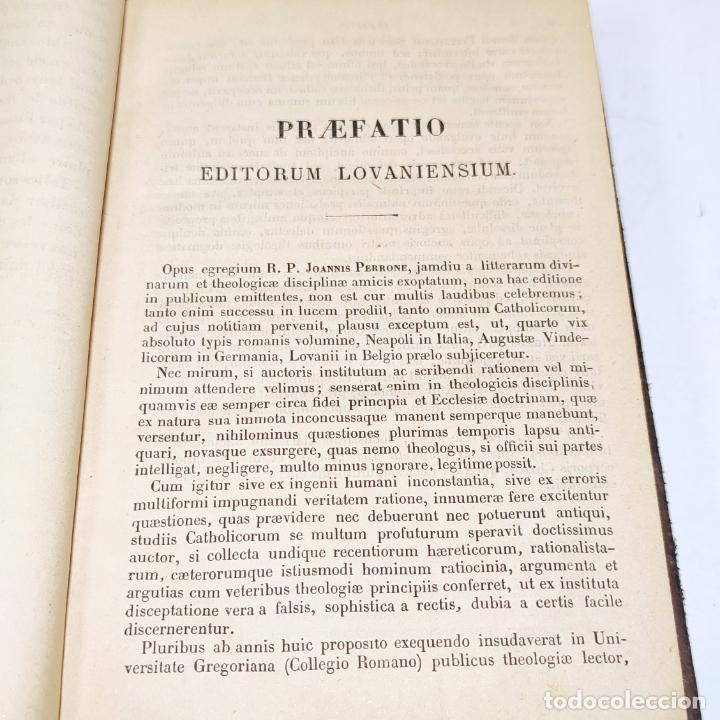 Libros antiguos: Praelectiones theologicae quas in collegio romano S.J. Joannes Perrone. 4 tomos. París. 1887. - Foto 7 - 265830979