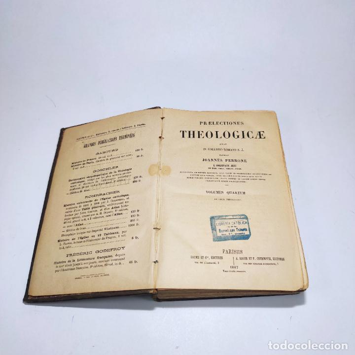 Libros antiguos: Praelectiones theologicae quas in collegio romano S.J. Joannes Perrone. 4 tomos. París. 1887. - Foto 28 - 265830979