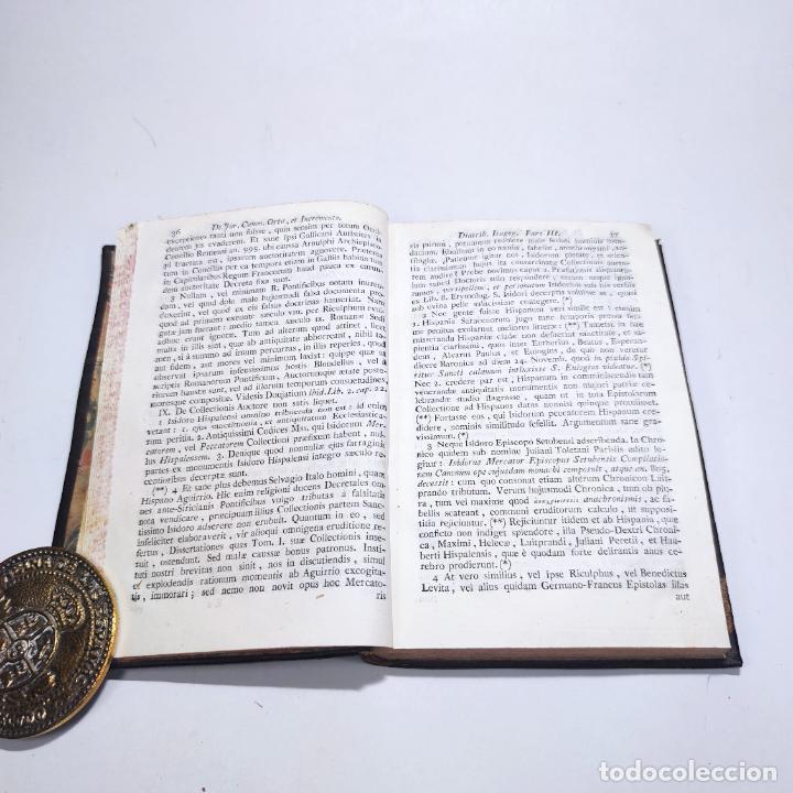 Libros antiguos: Institutionum canonicarum. Libri tres ad usum seminarii neapolitani: Julio Laurentio Selvagui. 1784. - Foto 5 - 265844554
