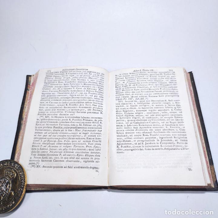 Libros antiguos: Institutionum canonicarum. Libri tres ad usum seminarii neapolitani: Julio Laurentio Selvagui. 1784. - Foto 6 - 265844554