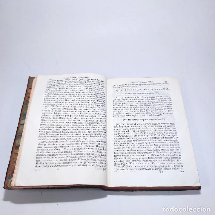 Libros antiguos: Institutionum canonicarum. Libri tres ad usum seminarii neapolitani: Julio Laurentio Selvagui. 1784. - Foto 15 - 265844554