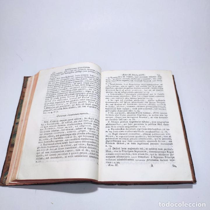 Libros antiguos: Institutionum canonicarum. Libri tres ad usum seminarii neapolitani: Julio Laurentio Selvagui. 1784. - Foto 16 - 265844554