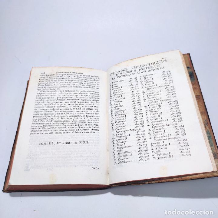 Libros antiguos: Institutionum canonicarum. Libri tres ad usum seminarii neapolitani: Julio Laurentio Selvagui. 1784. - Foto 18 - 265844554