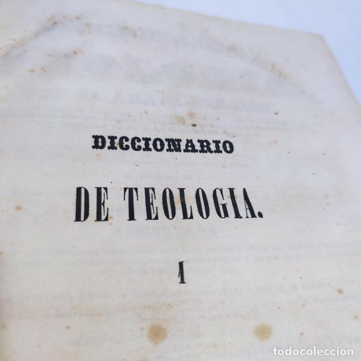 Libros antiguos: Diccionario de teología. Por el abate Bergier. 4 tomos. Madrid. 1847. Imp. Don Primitivo Fuentes. - Foto 4 - 265845699