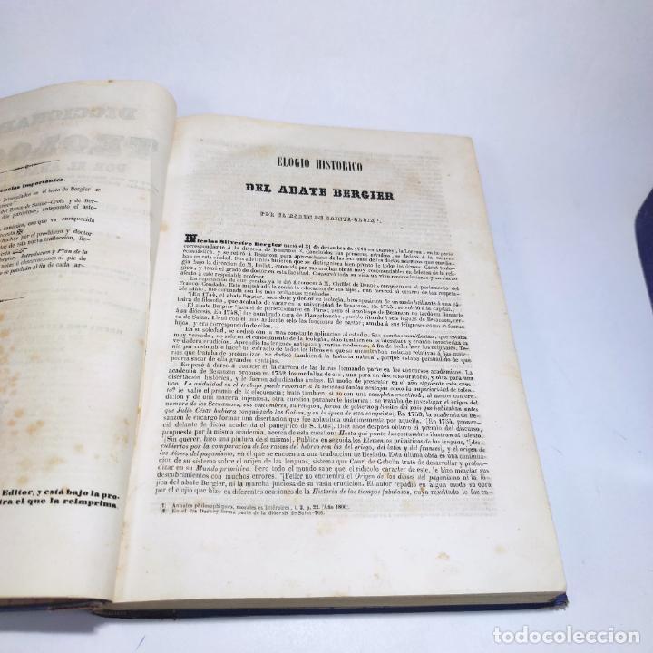 Libros antiguos: Diccionario de teología. Por el abate Bergier. 4 tomos. Madrid. 1847. Imp. Don Primitivo Fuentes. - Foto 9 - 265845699