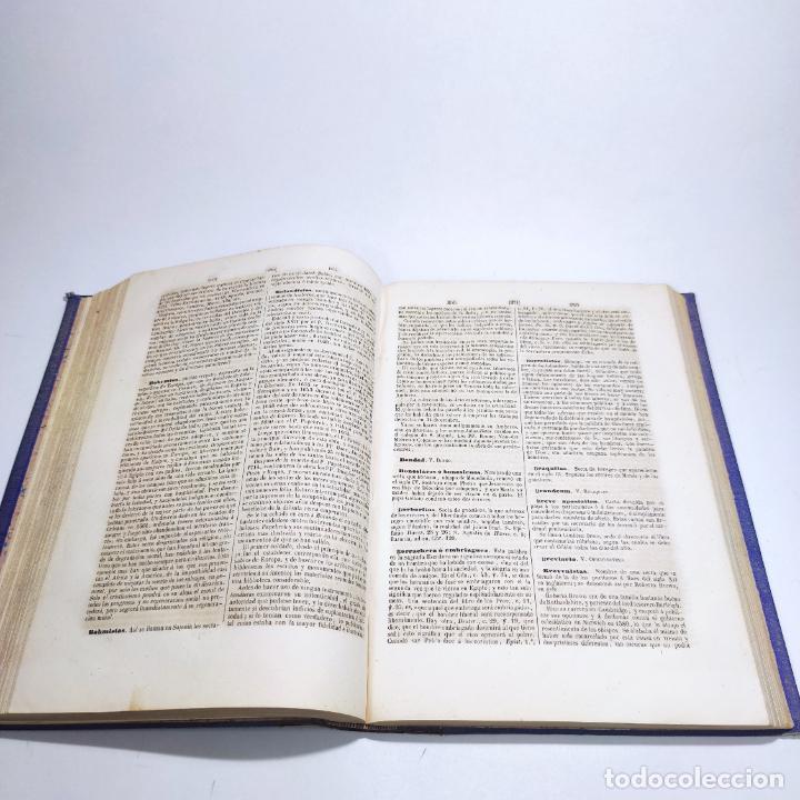 Libros antiguos: Diccionario de teología. Por el abate Bergier. 4 tomos. Madrid. 1847. Imp. Don Primitivo Fuentes. - Foto 11 - 265845699