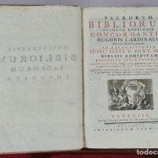 Livres anciens: SACRORUM BIBLIORUM. VULGATAE EDITIONIS. FRANCISCO LUCA. NICOLAU PEZZANA. 1775.. Lote 267061614