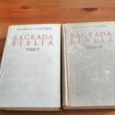 Libri antichi: SAGRADA BÍBLIA BOVER S.I.- CANTERA. BAC (1947) (II TOMOS). Lote 267381219