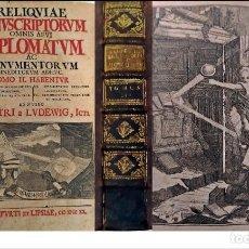 Libros antiguos: AÑO 1720: RELIQUIAE MANUSCRIPTORUM OMNIS AEVI DIPLOMATUM. SIGLO XVIII. Lote 267861584