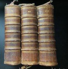 Libros antiguos: BREVIARIUM ROMANUM. PII V. POTIFICIS MAXIMI. CLEMENTIS III. ANTVERPIAE. AÑO 1719. 3 TOMOS. VER/LEER. Lote 268042469