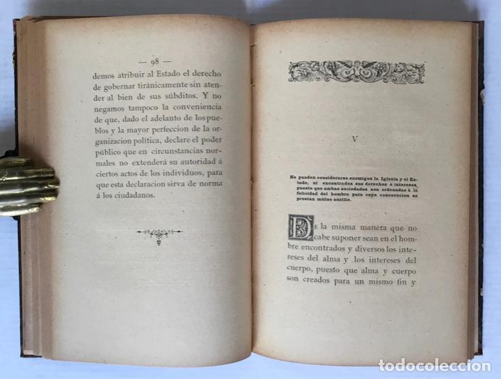 Libros antiguos: LA IGLESIA Y EL ESTADO. Reglas para trazar la línea divisoria entre sus derechos é intereses. - BRUG - Foto 5 - 123168180