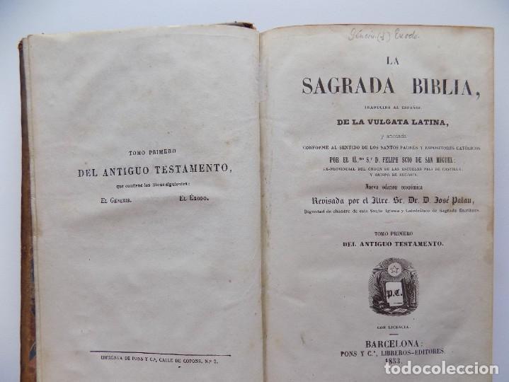LIBRERIA GHOTICA. LA SAGRADA BIBLIA. TOMO 1 DEL ANTIGUO TESTAMENTO. 1853. EL GÉNESIS. EL ÉXODO. (Libros Antiguos, Raros y Curiosos - Religión)