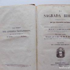 Libros antiguos: LIBRERIA GHOTICA. LA SAGRADA BIBLIA. TOMO 1 DEL ANTIGUO TESTAMENTO. 1853. EL GÉNESIS. EL ÉXODO.. Lote 269328468