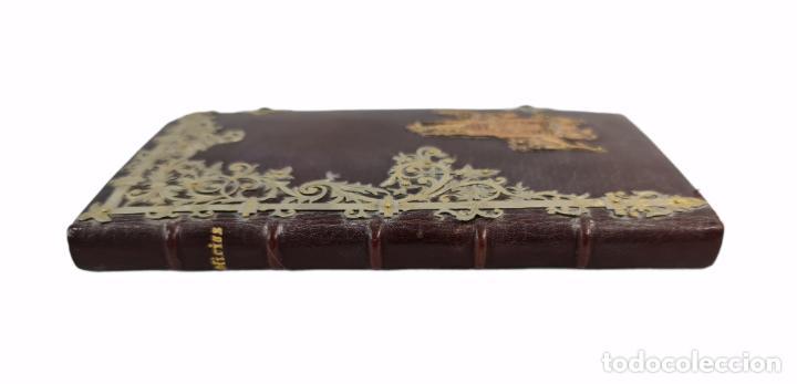 Libros antiguos: Oficios divinos para los domingos. Lavalle. SXIX. Metal calado plateado y dorado.. - Foto 6 - 270130858