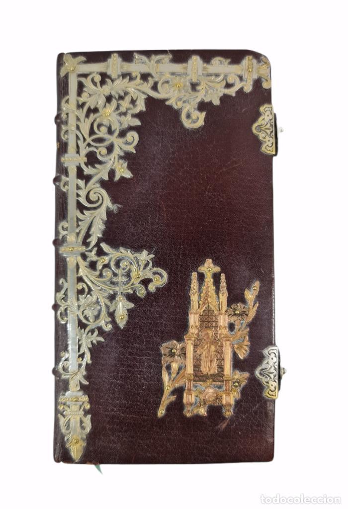Libros antiguos: Oficios divinos para los domingos. Lavalle. SXIX. Metal calado plateado y dorado.. - Foto 8 - 270130858