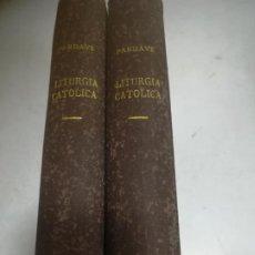 Libros antiguos: LA RESTAURACIÓN DE LA SOCIEDAD MODERNA MEDIANTE LITURGIA CATÓLICA. AMADO G.PARDAVE. 2 TOMOS. 1930. Lote 273084448