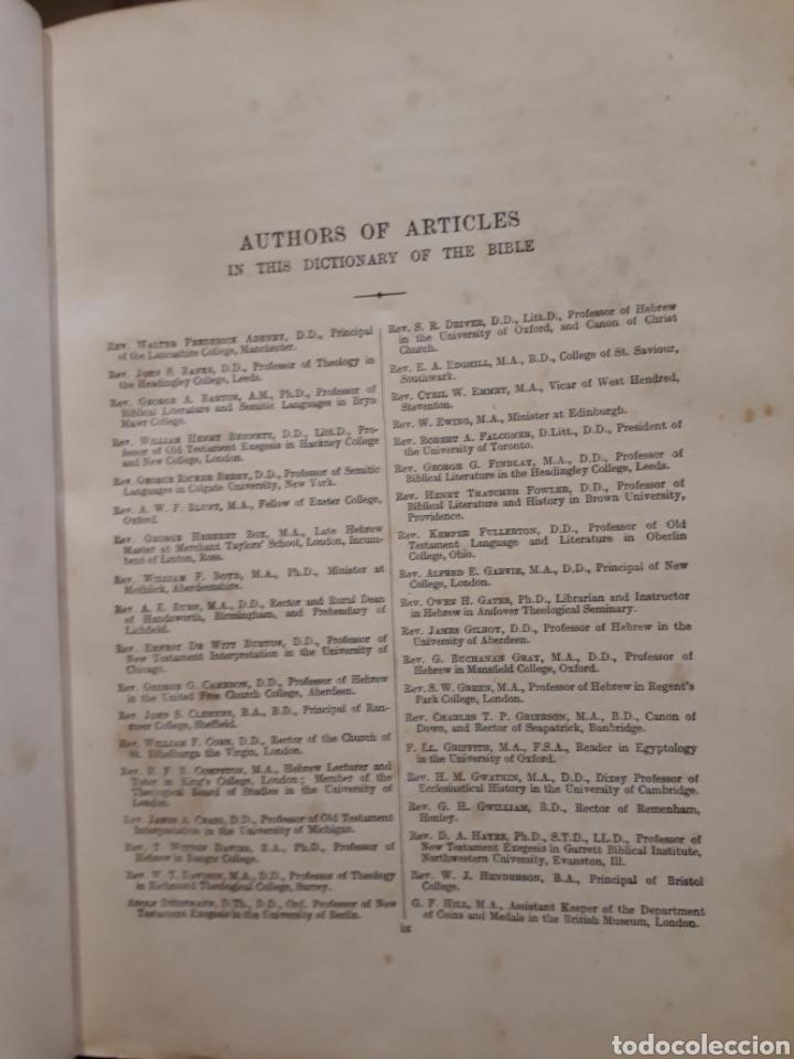 Libros antiguos: DICTIONARY OF THE BIBLE. 1910 James Hastings. Ilustrado. Úñero. Diccionario Biblia. Bíblico. - Foto 10 - 274390648