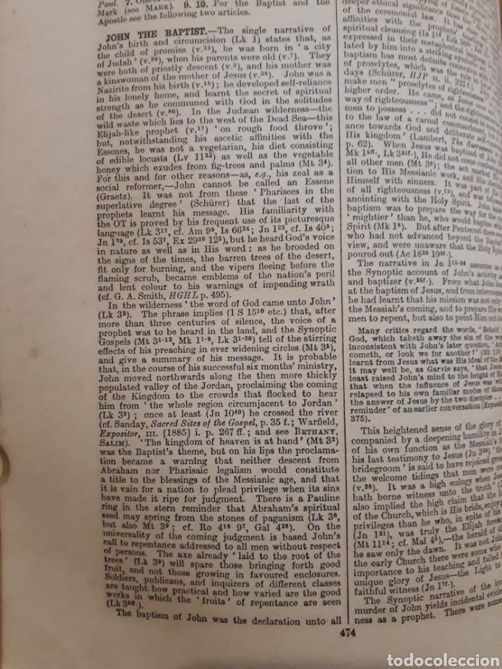 Libros antiguos: DICTIONARY OF THE BIBLE. 1910 James Hastings. Ilustrado. Úñero. Diccionario Biblia. Bíblico. - Foto 23 - 274390648