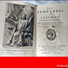 Libros antiguos: AÑO 1672: LOS PROVERBIOS DE SALOMON.. Lote 275021693