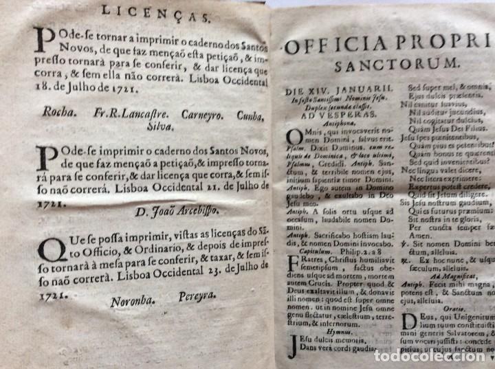 Libros antiguos: Officia Nova aut Innovata, ( 1721 ), Raro - Foto 4 - 275989263