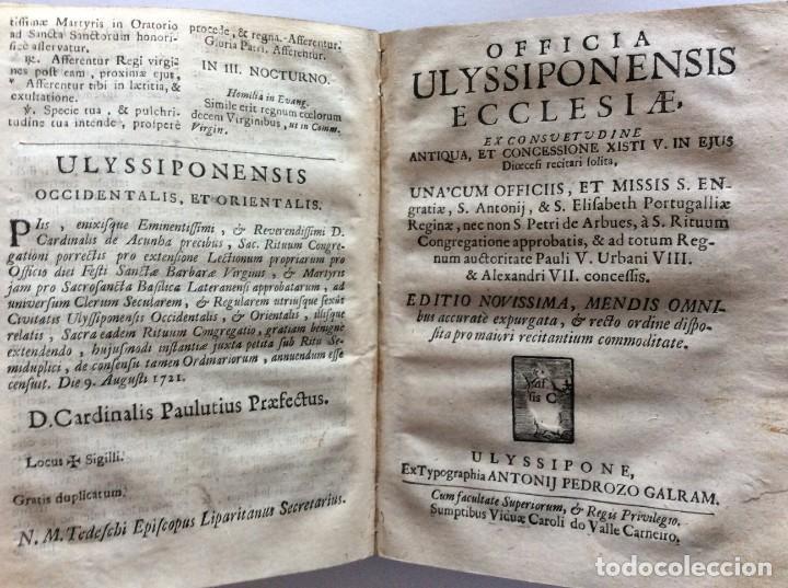 Libros antiguos: Officia Nova aut Innovata, ( 1721 ), Raro - Foto 13 - 275989263