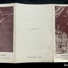 Libros antiguos: TRÍPTICO / SANTÍSIMO CRISTO DE LA SEO / ZARAGOZA SEPTIEMBRE 1936 / RECUERDO COMUNIÓN GENERAL. Lote 276181298