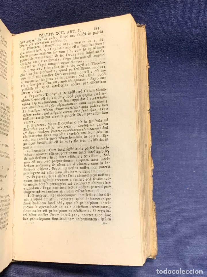 Libros antiguos: LIBRO SUMMA THEOLOGIE S. THOMAE VOL 2 VENETIIS 1778 VENECIA SUMA TEOLOGICA SANTO TOMAS AQUINO 17X10C - Foto 5 - 276564688