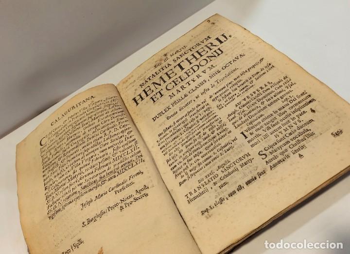 Libros antiguos: BREVIARIO CATÓLICO en latín. Siglos de XVII a XVIII. CALAGURITANA 1762. - Foto 9 - 276571488