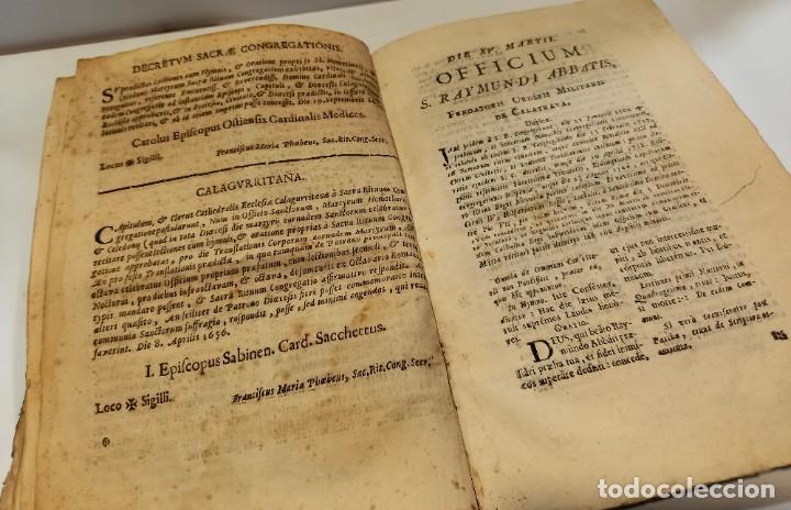 Libros antiguos: BREVIARIO CATÓLICO en latín. Siglos de XVII a XVIII. CALAGURITANA 1762. - Foto 10 - 276571488