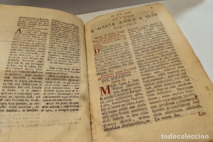 Libros antiguos: BREVIARIO CATÓLICO en latín. Siglos de XVII a XVIII. CALAGURITANA 1762. - Foto 11 - 276571488