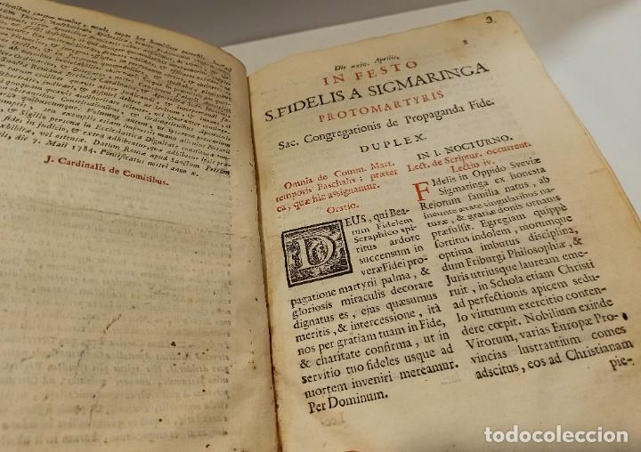Libros antiguos: BREVIARIO CATÓLICO en latín. Siglos de XVII a XVIII. CALAGURITANA 1762. - Foto 12 - 276571488