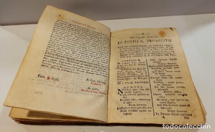 Libros antiguos: BREVIARIO CATÓLICO en latín. Siglos de XVII a XVIII. CALAGURITANA 1762. - Foto 13 - 276571488