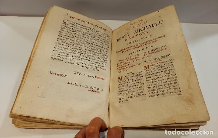 Libros antiguos: BREVIARIO CATÓLICO en latín. Siglos de XVII a XVIII. CALAGURITANA 1762. - Foto 16 - 276571488
