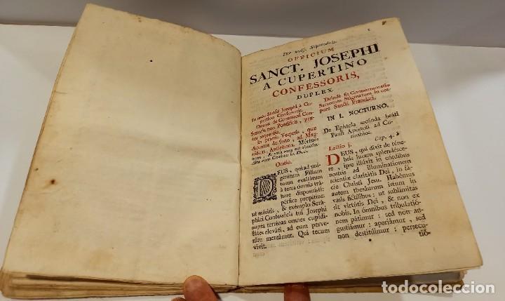 Libros antiguos: BREVIARIO CATÓLICO en latín. Siglos de XVII a XVIII. CALAGURITANA 1762. - Foto 18 - 276571488