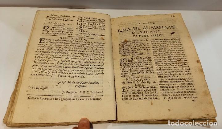 Libros antiguos: BREVIARIO CATÓLICO en latín. Siglos de XVII a XVIII. CALAGURITANA 1762. - Foto 23 - 276571488