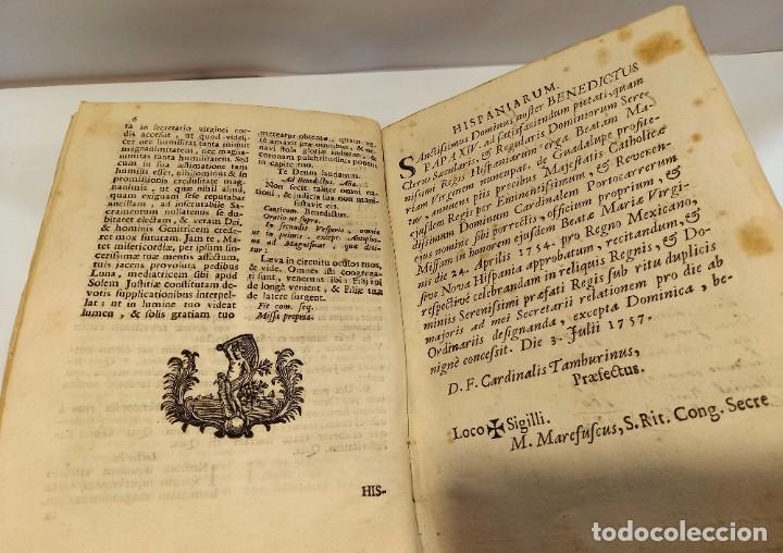 Libros antiguos: BREVIARIO CATÓLICO en latín. Siglos de XVII a XVIII. CALAGURITANA 1762. - Foto 24 - 276571488