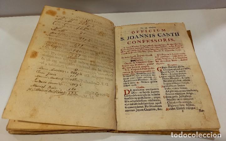 Libros antiguos: BREVIARIO CATÓLICO en latín. Siglos de XVII a XVIII. CALAGURITANA 1762. - Foto 25 - 276571488