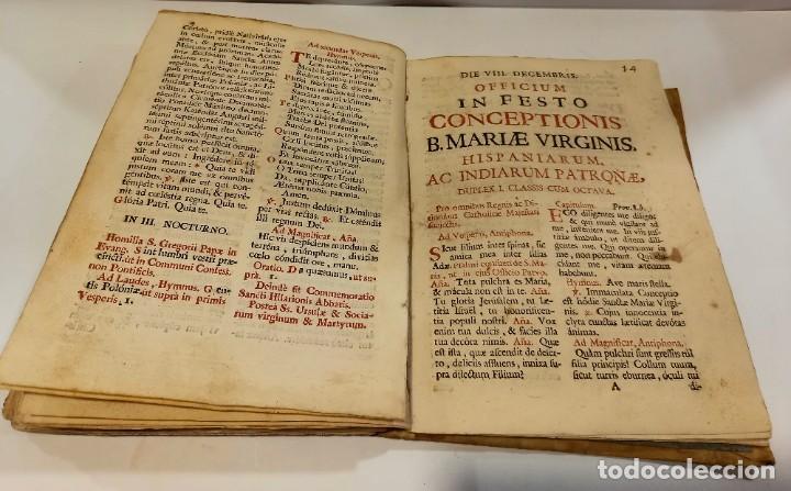 Libros antiguos: BREVIARIO CATÓLICO en latín. Siglos de XVII a XVIII. CALAGURITANA 1762. - Foto 26 - 276571488
