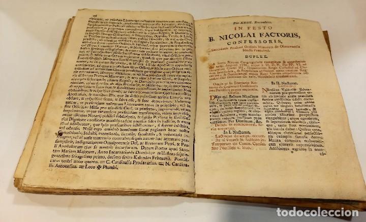 Libros antiguos: BREVIARIO CATÓLICO en latín. Siglos de XVII a XVIII. CALAGURITANA 1762. - Foto 27 - 276571488