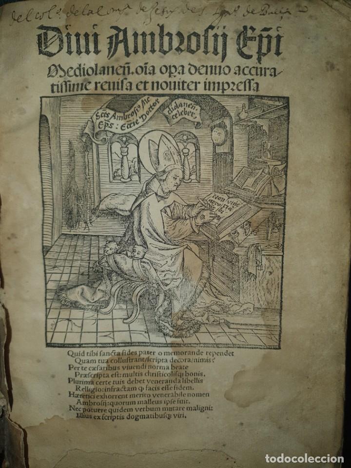 GÓTICO INCUNABLE: OBRAS DE SAN AMBROSIO. (Libros Antiguos, Raros y Curiosos - Religión)