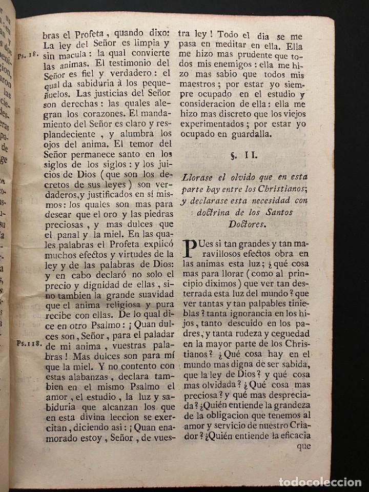 Libros antiguos: GUIA DE PECADORES. V.P.M.FR. LUIS DE GRANADA. IMPRENTA PANTALEON. AÑO 1759. PAGS: 477 - Foto 5 - 277089098